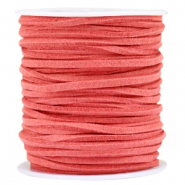 Faux suede 3mm Dark coral rose
