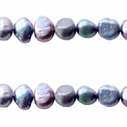 Freshwater pearls nugget 7-8mm Peacock Blue