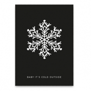 "Jewellery cards ""baby it's cold outside"" Black"