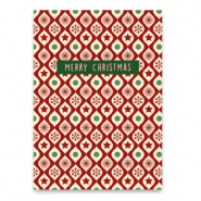 "Jewellery cards ""merry christmas"" Red-green"