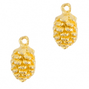 DQ European metal charms pine cone Gold (nickel free)