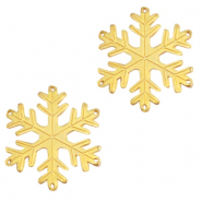 DQ European metal charms connector snowflake Gold (nickel free)