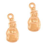 DQ European metal charms snowman Rose Gold (nickel free)
