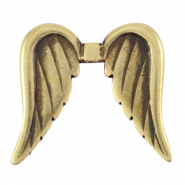 DQ European metal beads angel wings Antique Bronze (nickel free)