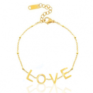 "Stainless steel bracelets ""love"" Gold"