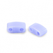 Miyuki beads half tila 5x2.3mm Opaque Luster Light Periwinkle Blue HTL-446