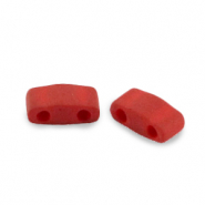 Miyuki beads half tila 5x2.3mm Metallic Matte Brick Red HTL-2040