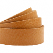 DQ European leather flat 20 mm Natural Brown