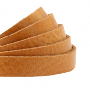 DQ European leather flat 10 mm Natural Brown