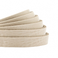 DQ European leather flat 5 mm Cream Beige