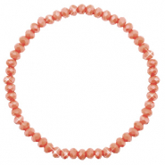 Top faceted bracelets 4x3mm Burnt Orange-Pearl Shine Coating