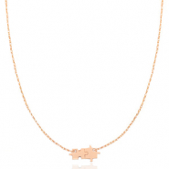 Stainless steel necklaces puzzle Rosegold