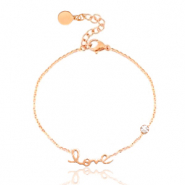 Stainless steel bracelet LOVE Rosegold