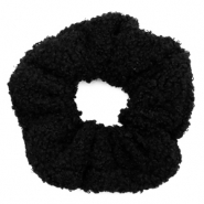 Scrunchie teddy hair tie Black