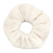 Scrunchie teddy hair tie White