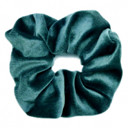 Scrunchie velvet hair tie Petrol Green