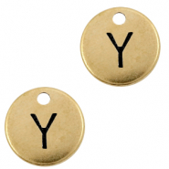 DQ European metal charms initial Y Antique Bronze (nickel free)