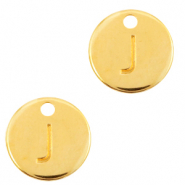 DQ European metal charms initial J Gold (nickel free)
