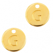 DQ European metal charms initial G Gold (nickel free)