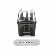 ImpressArt number stamps set Stargazer 2mm Dark Grey