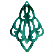Resin pendants baroque diamond Ocean Green