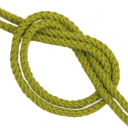 DQ trendy cord woven Olive Green