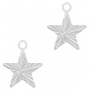 Brass TQ metal charms star Silver