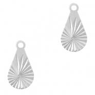 Brass TQ metal charms drop Silver