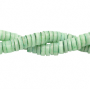 Shell beads disc 3mm Turquoise Green