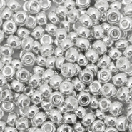 Miyuki seed beads 8/0 Bright Sterling Plated Silver 8-961