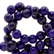6 mm natural stone beads Dark Blue