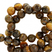 6 mm natural stone beads Multicolour Brown