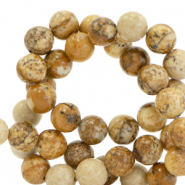 6 mm natural stone beads Tan Brown