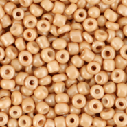 Glass seed beads 8/0 (3mm) Cream Light Brown