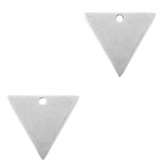 DQ European metal charms triangle Antique Silver (nickel free)