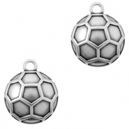 DQ European metal charms ball 18mm Antique Silver (nickel free)