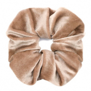 Scrunchies velvet hair tie Light Brown