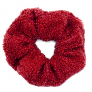 Scrunchies teddy hair tie Red