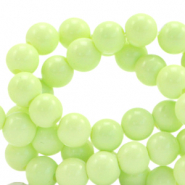 8 mm glass beads opaque Luminary Green