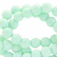 8 mm glass beads opaque Light Green Ash