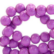 8 mm glass beads opaque Sheer Lilac