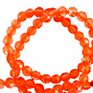 2 mm natural stone faceted beads crystal Electric Orange