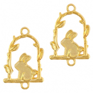 DQ European metal charms connector rabbit Gold (nickel free)