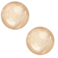 12 mm classic Polaris Elements cabochon Mosso shiny Tan Brown