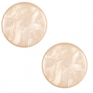 20 mm flat Polaris Elements Cabochon Lively Tan Brown