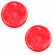 20 mm flat Polaris Elements Cabochon Lively Flame Scarlet Red
