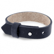 Cuoio bracelet leather 15 mm for 20 mm cabochon Indigo Blue