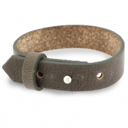 Cuoio bracelet leather 15 mm for 20 mm cabochon Warm Stone Taupe