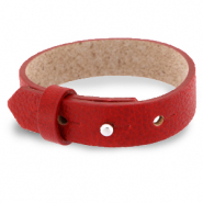 Cuoio bracelet leather 15 mm for 20 mm cabochon Ruby Red