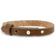 Cuoio bracelet leather 8 mm for 12 mm cabochon Alcazar Brown
